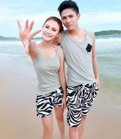 Free Shipping KZ10-1 Ms. zebra beach pants shorts