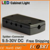 2014 Hot Sale 12v led Connector Splitter 24v working for Low Voltage Puck Light/ Under Cabinet Lights CE ROHS Free Shipping