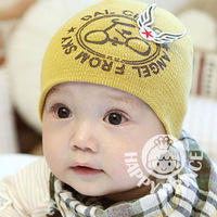 FREE SHIPPING!2013 spring and autumn baby pocket bike wings Hat Caps Boys and girls kids cotton hat 1pcs/lot