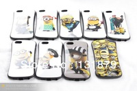 For Iphone 5 5G Despicable Me 2 3D Minions Cute Cartoon Case Cover for Apple iPhone 5 Free shipping