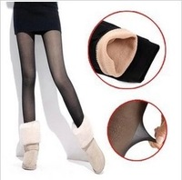 Winter double layer bamboo meat silk legging female plus velvet thermal thickening ankle length trousers