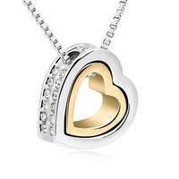100% Austria Crystal Platinum Plated Pendant Necklace