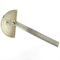 Stainless Protractor Round Head Angle Finder Craftsman Rule Ruler Machinist Tool