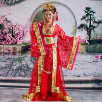 2013 ancient clothes costume tang dynasty women's hanfu bride clothes long train design formal dress