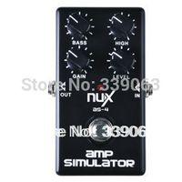 NUX AS-4 Modern Amplifier Simulator Guitar Bass Effect Pedal Boosts Greater Distortion Effect True bypass Musical Instrument
