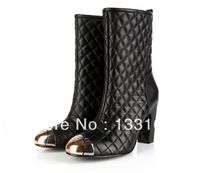 Free shipping women  high quality designer leather high heel boots,winter women boots,ankle boots