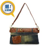 2013 denim bag small bags fashion casual vintage one shoulder cross-body women's canvas bag female