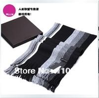 New 2013 autumn/winter wrap Han men striped warm scarf gentleman wool spinning neckerchief tassel shawl 200*36cm  free shipping