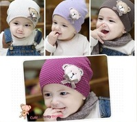 Wholesale New Fashion Design Korean Cute Baby Hat, Lovely Kids Cartoon Bear Cap, Cotton Baby Caps,Infant Hat/Cap High Quality