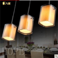 modern fashion led pendant light  cognac color 3 light