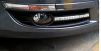Free shipping,2x LED daytime running light with fog lamp cover for VW Volkswagen Passat B6