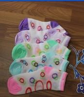 Sweet Free Shipping Girls' Summer All Match Colorful Circle Polka Dot Printed Gauze Socks Send By Random ZX11120901