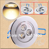 1pcs 3x3W LED Warm White Recessed Downlight Spotlight Bulb Lamp 95-265V 110V 220V