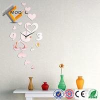 Hot Sale Lovely Heart Shape DIY Mirror Sticker Modern Fashion Home Decoration Free Shipping
