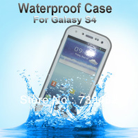 For Samsung Galaxy S4 SIV i9500 White Waterproof Case,High Quality PVC Material,w/ Retail Packaging,Free ePacket Shipping