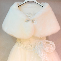 Bride cape wedding wrap formal dress cape thermal married rabbit fur cape winter bridesmaid cape