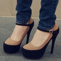 spring and autumn fashion princess high-heeled shoes platform 14cm platform thin heels punk shoes