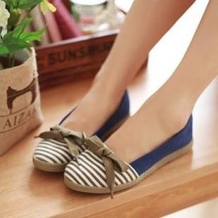 QiaoHome Autumn single shoes round toe bow shoes high quality women's comfortable flat shoes flat heel single shoes(China (Mainland))