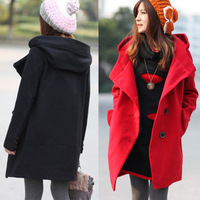 2013 NEW hot  women's plus size medium-long trench woolen overcoat outerwear