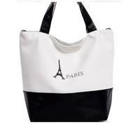 free shipping Eiffel Tower pattern casual Canvas Messenger Shoulder Bag women bag student bag