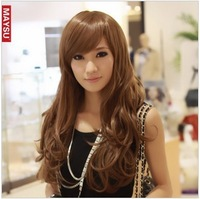 Wig hair adjust buckle belt elegant long curly hair fluffy repair wig