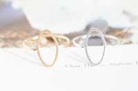2013 New Gold Silver Oval Anniversary Rings Wedding Gift Pink Rings For Women