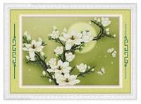 free shipping DIY Cmc cross stitch kit elegant   printed  flower D501