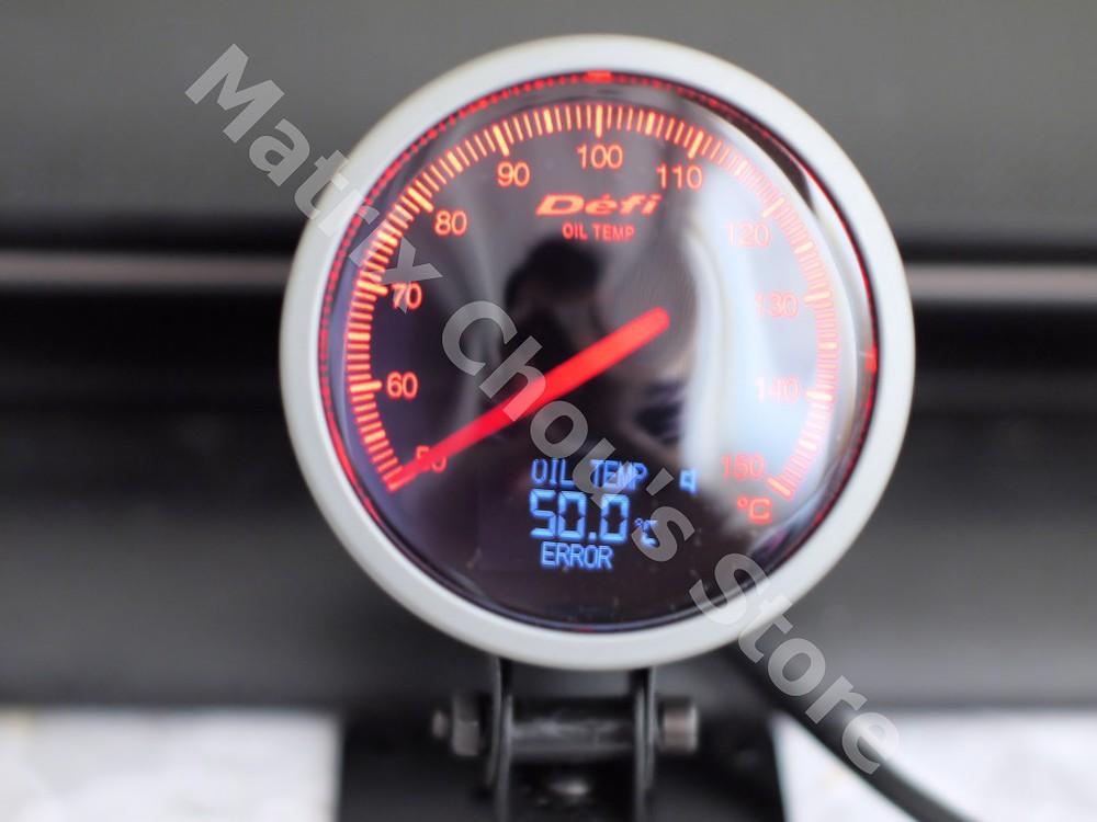 2.5 polegada 60 MM Auto Defi BF medidor com LCD car medidor de temperatura do óleo / Oil TEMP medidor vermelho e branco luz transporte rápido(China (Mainland))