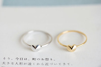 Free Shipping 18KGP Copper Alloy Classic Convex Heart Rings For Women