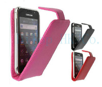 Free shipping genuine leather cove case for samsung I9000 I9001 I9003 I9008 I9008L Galaxy S SL with retail package