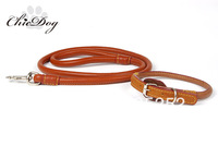 Free shipping genuine leather 1 colors retractable dog pet leash in factory price