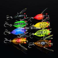 2015 Fishing Lure 4color 4.2cm/6.6g fishing tackle Cicada Classic Minnow fishing bait 8pc/lot Freeship