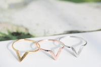 Free Shipping 2013 New Fashion Wire Chevron Knuckle Rings , V Shape Midi Ring