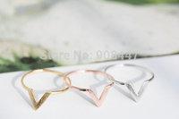 R12 Free Shipping New Fashion Wire Chevron Knuckle Rings , V Shape Midi Ring