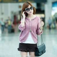 2013 Brand FashionTwo shipping 2013 spring new Korean version of the hollow smock coat sweater cardigan female sunscreen air con