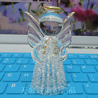 Free Shipping 6.5CM*5CM Crystal Glass Crafts Christmas Angel Festive Supplies Safest Package with Reasonable Price