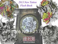 "Chinese Style 2013 New Tattoo Flash Book Hannya Skull Ghost Buddha Beauty Lion Tattoo Design Book 11""  New  Free Shipping"
