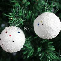 Christmas gift Christmas Tree Ornaments 6cm  Christmas Ball Snowball Free Shipping H008