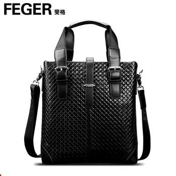 Man bag male handbag first layer of cowhide commercial briefcase bag messenger bag backpack bag