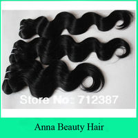 3pcs/lot 12-32inch mix length beautiful and soft Brazilian Remy Weaves Fashion Body Wave  #1B #2 #4 300gram/lot 100gram/bundle