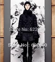 2014 Fashion down coat women Winter jacket,winter outerwear,winter clothes women thick jackets Parka Overcoat Tops mon 3004