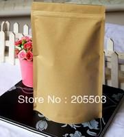 Zipper lock Brown Kraft Paper stand up bag 180*300mm (accept customization ) 50pcs/lot