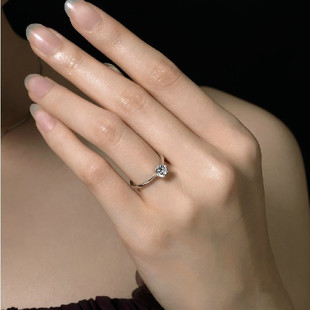 The gift of love Lettering pure silver ring lovers artificial diamond ring pinky ring female(China (Mainland))