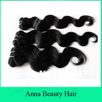 New Arrival 3pcs/lot 100g/pc 300g/lot High Quality 100% Malaysian Hair Charming Loose Body Wave Can Mix Any Length #1B