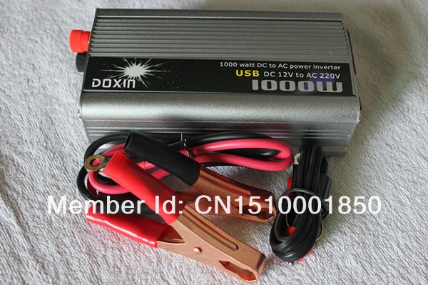 1000 watt 1000W Car Boat outdoors home Modified Sine Wave DC 12V To AC 220V Out Power Inverter + 5V USB PORT(China (Mainland))