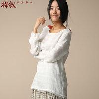 [LYNETTE'S CHINOISERIE - Cotton Talk ] 2014 autumn new arrival brief basic shirt women's color block shirt decoration