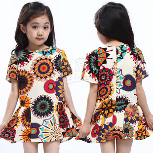 2013 summer elegant girls clothing baby child qz-0736 short-sleeve dress