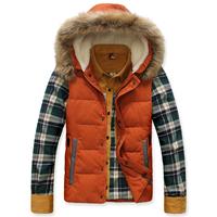 2014 autumer and winter men's down vest, slim large fur collar down coat vest,fashion vest for men
