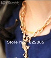 2013 clavicle short chain necklace set auger twist lett