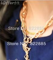 2014 clavicle short chain necklace set auger twist lett